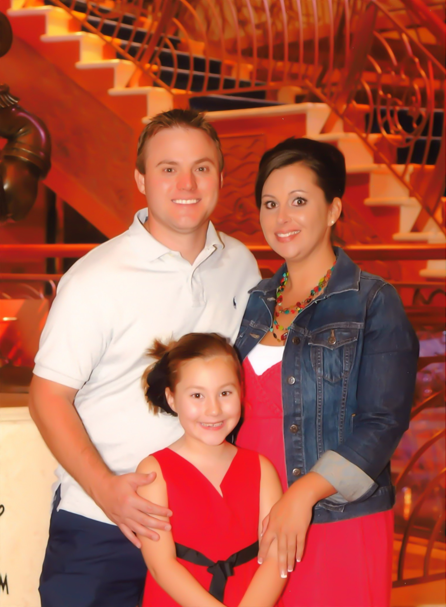 Photo is Sarah, husband Dustyn, and daughter Ashley