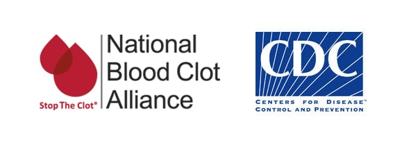 National Blood Clot Alliance and CDC logos