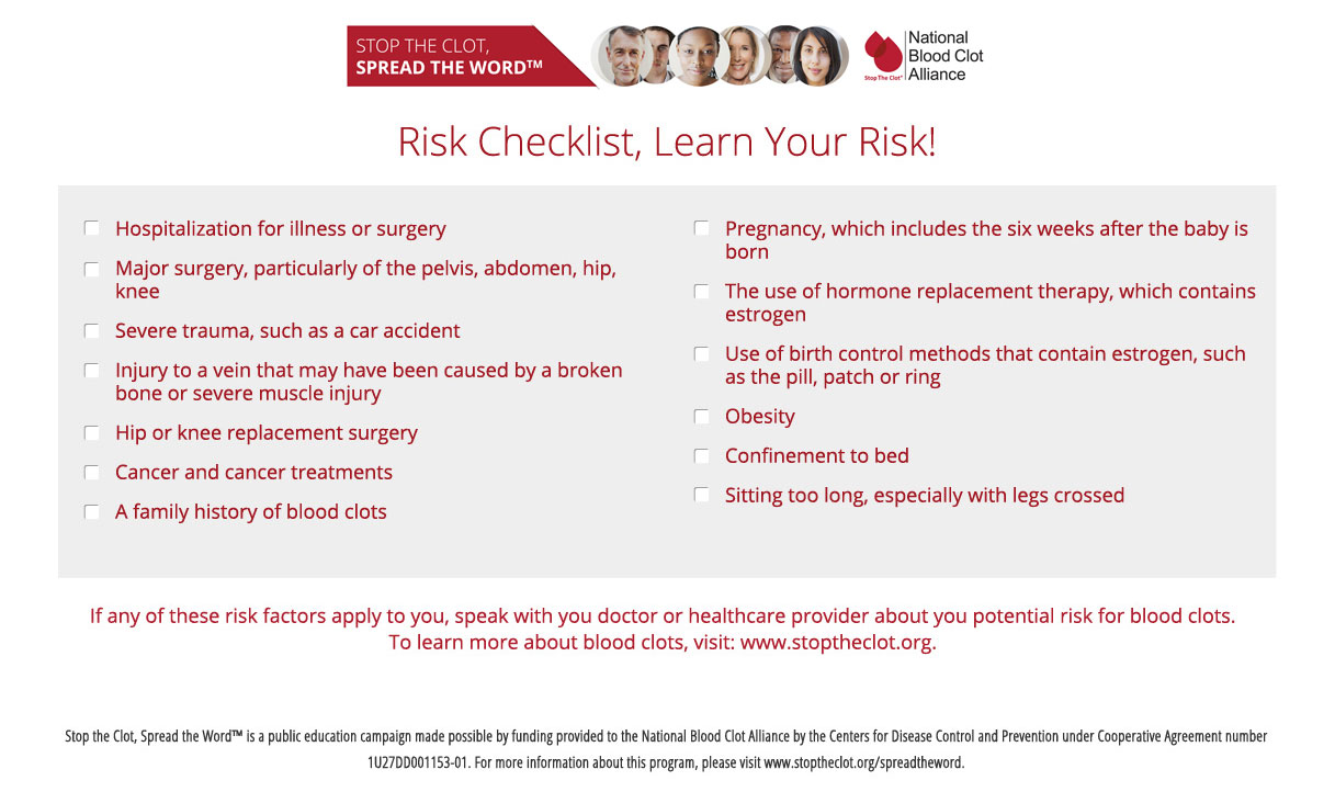 Risk Factor Checklist
