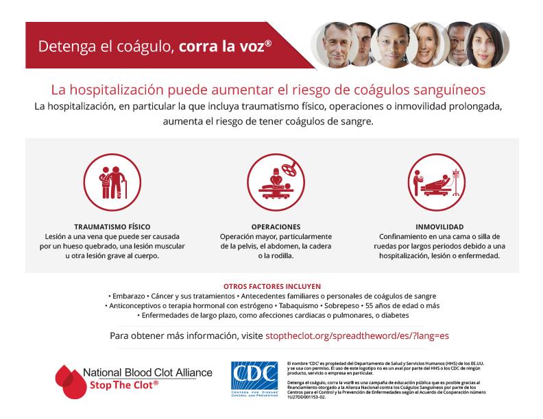 La hospitalización puede aumentar el riesgo de coágulos sanguíneos