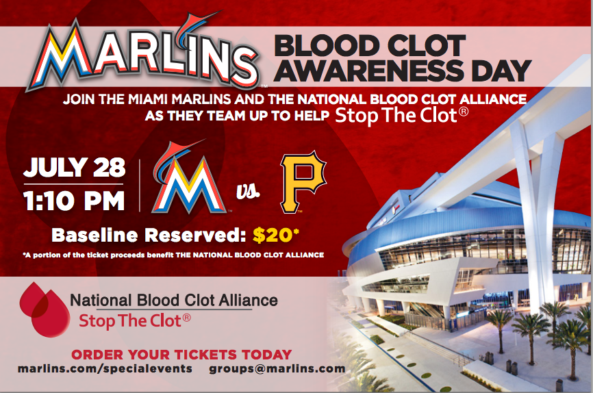 Miami Marlins Blood Clot Awareness Day