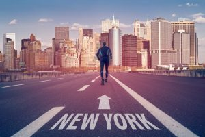 Road to new york city marathon