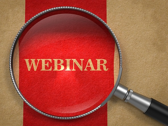 Webinar - Magnifying Glass Concept.