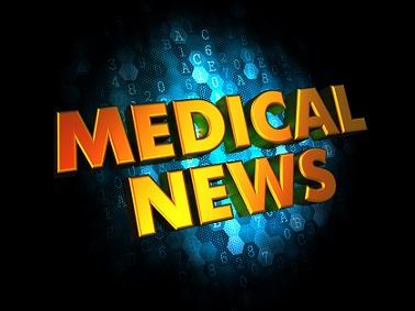 Medical News - Gold 3D Words.