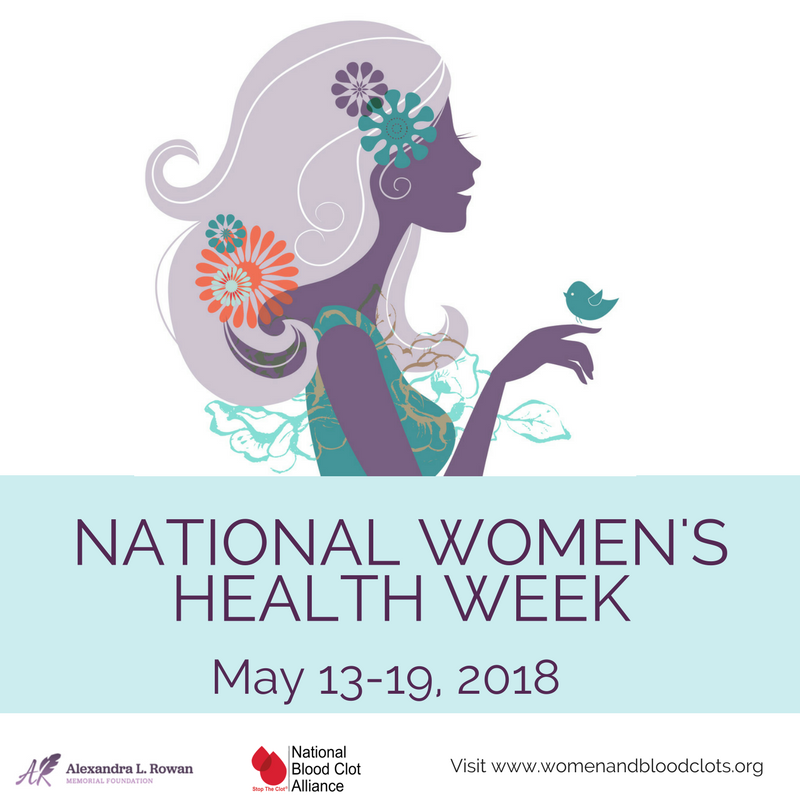 celebrate share during national women s health week blood clots