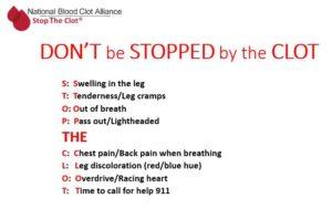 team stop the clot awareness efforts